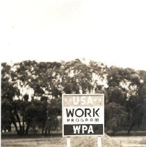 Image of WPA Sign