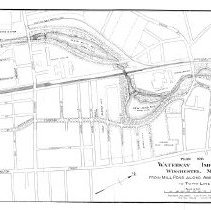 Image of 1300.100 - Plan of Waterways improvement Winchester, Mass. About Wedge Pond & Horn Pond Book
