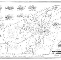 Image of 1300.107 - Map of Winchester, Mass. 1854. This map adapted by Ernest Dudley  Chase form one by H.E. Walling, published in 1854.