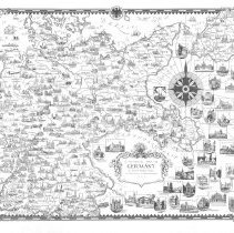 Image of 1300.108 - A Pictorial Map of Germany by Ernest Dudley Chase of Winchester in Massachusetts, U.S.A.