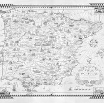 Image of 1300.111 - A Pictorial Map of Spain and Portugal by Ernest Dudley Chase of Winchester, Massachusetts