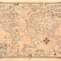 Image of 1300.113 - World Wonders; a pictorial map designed and drawn by Ernest Dudley Chase. Winchester, Massachusetts U.S.A.