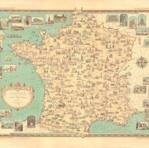 Image of 1300.116 - France as drawn by Ernest Dudley Chase of Winchester, Massachusetts USA