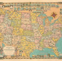 Image of Chase Map of Amierca the Wonderland