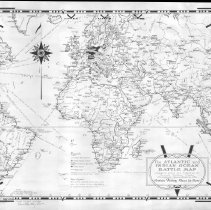 Image of 1300.120 - The Atlantic and Indian Ocean Battle Map designed, drawn and published by Ernest Dudley Chase  Winchester, Massachusetts U.S.A.  Certain Victory Must be Ours!
