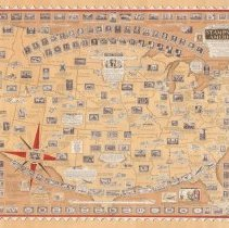 Image of 1300.125 - The Pictorial Map Stamps of America Dedicated to Philatelists Everywhere designed, drawn and published by Ernest Dudley Chase Winchester Massachusetts U.S.A.  Research by Charles Peck Kerr