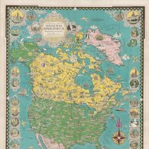Image of 1300.129 - A Pictorial Map of North America designed, drawn and published by Ernest Dudley Chase Winchester, Massachusetts, U.S.A.