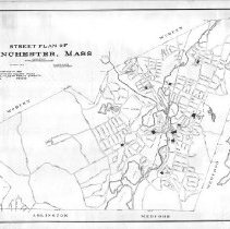 Image of 1300.27 - Street plan of Winchester, Massachusetts, March 1916
