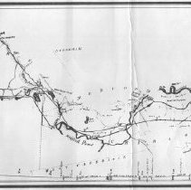 Image of 1300.30 - Boston and Lowell Railroad showing Middlesex Canal
