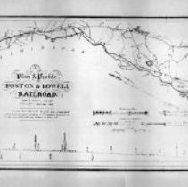 Image of 1300.31 - A Plan and Profile, The Boston & Lowell Railroad.