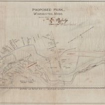 Image of 1300.36 - Proposed Park, Winchester, Massachusetts, 1893.