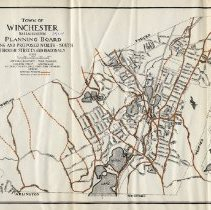 Image of 1300.63 - Town of Winchester, Massachusetts Planning Board - Existing and Proposed North-South Through Streets and Diagonals 1924.