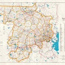 Image of 1300.85 - Map of Middlesex County, Massachusetts. United States of America Bicentennial Year 1975-1976