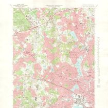 Image of 1300.86 - Lexington Quadrangle Massachusetts, Middlesex County, Lexington, Massachusetts U.S.G.S. 7.5 Minute Series
