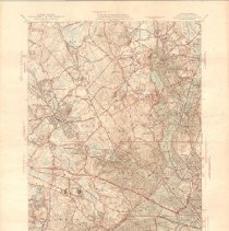 Image of 1300.88 - Massachusetts Lexington Quadrangle Topographic Map. 7.5 minute series.