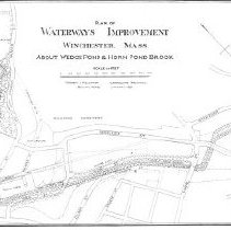 Image of 1300.99 - Plan for Waterway improvement Winchester, Mass. From Mill Pond along Aberjona River to Town Line