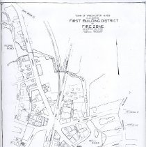 Image of 1300.138 - Plan Showing First Building District or Fire Zone as in effect Mar. 9, 1908