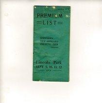 Image of paremium list for fair