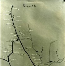 Image of 2006.015.03.03 - Gifford Road by Eleanor Tripp 1898 Original map (photo scanned)
