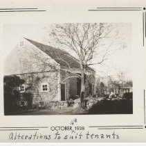 """Image of 2006.040.031 - October 16, 1938, Photo of Barn """"Alterations to suit tenants"""""""
