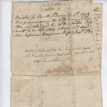 Image of 2006.045.009 - Deed to homestead farm, sold by Elijah Allen to  Peleg White. December 20, 1785.