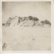 Image of 2008.056.020 - Photograph of sand dunes and shore after the '38 Hurricane at Horseneck Beach.