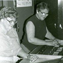 Image of PINKY FOWLER, POLLY Burnell - A-2-1  Pinky Fowler, Polly Burnell  Library Outeach Program