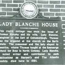 Image of SIGN BY LADY BLANCHE HOUSE - A-4-4  Lady Blanche House marker