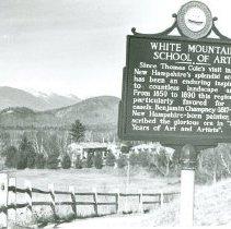 Image of WHITE MT. SCHOOL OF ART HISTORIC MARKER - WHITE MT. SCHOOL OF ART HISTORIC MARKER
