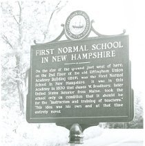 Image of HISTORIC MARKER, FIRST NORMAL SCHOOL - HISTORIC MARKER, FIRST NORMAL SCHOOL