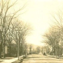 Image of METHODIST CHURCH AND MAIN ST. CONWAY VILLAGE - METHODIST CHURCH AND MAIN ST. CONWAY VILLAGE