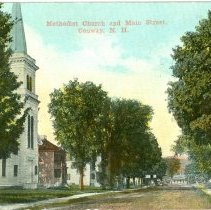 Image of METHODIST CHURCH AND MAIN STREET, CONWAY - METHODIST CHURCH AND MAIN STREET, CONWAY