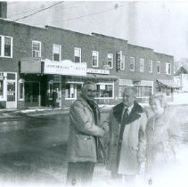 Image of MR. WOLD,  MR. & MRS. ARTHUR BROWN AND THE BOLDUC BLOCK - MR. WOLD,  MR. & MRS. ARTHUR BROWN AND THE BOLDUC BLOCK