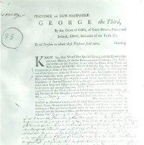 Image of Copy of B. Wentworth declaration establishing Conway, 1765, page 1 - Wentworth establishes Conway, page 1