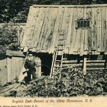 Image of English Jack, hermit, cabin in Crawford Notch