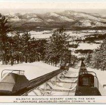 Image of Cranmore skimobile, winter view,  N. Conway - Mt Cranmore Skimobile View