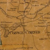 Image of Conway Corner from Map of Carroll County, 1860