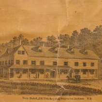 Image of Falls Hotel, Jackson, inset from Map of Carroll County, 1860