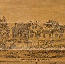 Image of Jotham Harmon House, Madison, an inset from the Map of Carroll County, 1860