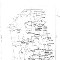 "Image of Town of Madison.  ""Map of all Roads, Cellar Holes & Residences ca 1860"", by Herbert Weston.  Tracing of original 1860s map made in August, 1976.  Shows roads, houses, lakes, cellar holes, and owner's names."