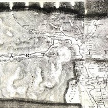 "Image of Bartlett:  From a Topographical Map of Carroll County, HF Walling, Surveyor.  Original (55""x55"") hung in Henney History Room.    1 photocopy."