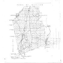 Image of Town of Madison, Hersey plots, redrawn 1940
