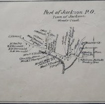 Image of Jackson, Freedom P.O., Jackson P.O.  1892 map of Jackson showing property owners by name.  Also shows details of Freedom and Jackson centers.  2-sided:  reverse side = CL0007 Conway)