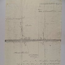 "Image of Poor blueprint copy of original map of Burton (=Albany), NH.  J. Atkinson, Surveyor.  Says: ""A true copy of the Charter, Grantees Names and Plan of Burton as recorded in the 3 Vol. Charter Records in this Office"".  Shows original town boundaries."
