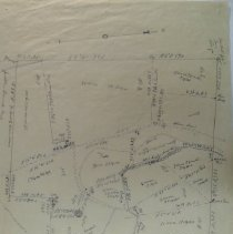"""Image of """"Recapitulation, 1821"""".  Appears to have original, detailed surveying notations. Shows: roads, rivers."""