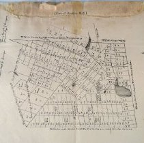 Image of Map of Bradford, NH, 1818.   Shows roads, rivers, lakes, and lots.