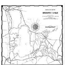 "Image of ""Navigation Chart - Ossipee Lake""  Shows roads railroads, rivers, lakes, buoys and other navigational aids, sea plane operations."