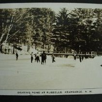 Image of Skating at Russell's Pond, Kearsarge - Skating at Russell's Pond, Kearsarge