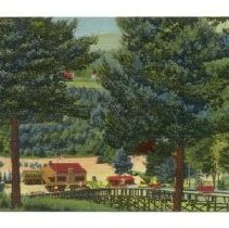 Image of Skimobile in summer, Mt Cranmore, North Conway - Skimobile in summer, Mt Cranmore, North Conway