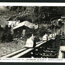 Image of Skimobile, half-way station, Mt. Cranmore, North Conway - Skimobile, half-way station, Mt Cranmore, North Conway